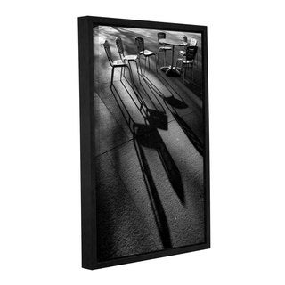 ArtWall Steve Ainsworth 'Chairs And Shadows' Gallery-wrapped Floater-framed Canvas