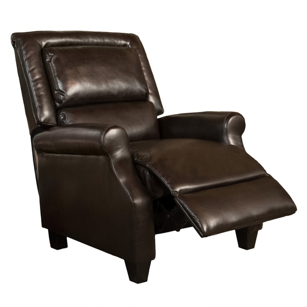 Reddington Brown Bonded Leather Recliner Club Chair by Christopher Knight Home - Free Shipping Today - Overstock.com - 17529288  sc 1 st  Overstock.com & Reddington Brown Bonded Leather Recliner Club Chair by Christopher ... islam-shia.org