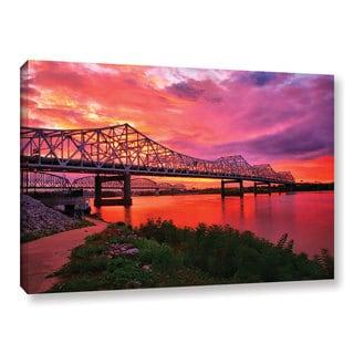 ArtWall Steve Ainsworth 'Bridges At Sunrise' Gallery-wrapped Canvas