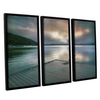 ArtWall Steve Ainsworth 'At Ease' 3 Piece Floater Framed Canvas Set