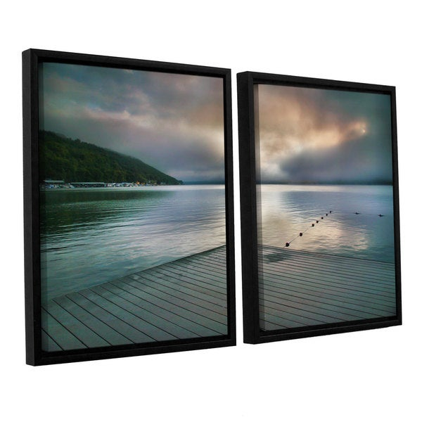 ArtWall Steve Ainsworth 'At Ease' 2 Piece Floater Framed Canvas Set