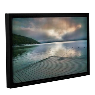 ArtWall Steve Ainsworth 'At Ease' Gallery-wrapped Floater-framed Canvas