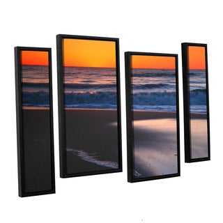 ArtWall Steve Ainsworth 'As Dawn Approaches' 4 Piece Floater Framed Canvas Staggered Set