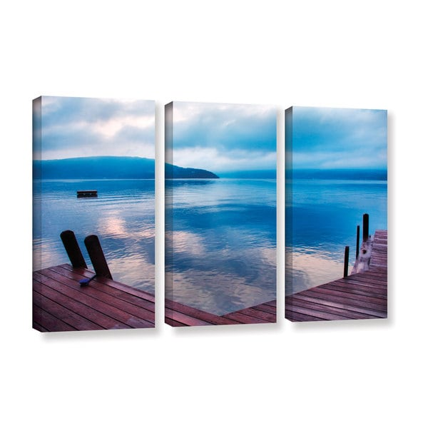 ArtWall Steve Ainsworth 'Interlude Filtered' 3 Piece Gallery-wrapped Canvas Set