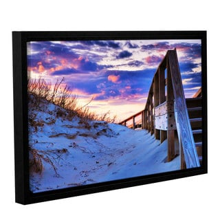 ArtWall Steve Ainsworth 'Sunset At Ocracoke' Gallery-wrapped Floater-framed Canvas