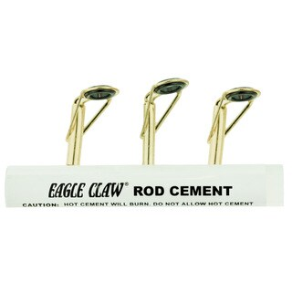 Eagle Claw Eagle Claw Rod Tip Repair Kit with Glue Black