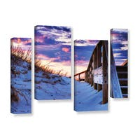ArtWall Steve Ainsworth 'Sunset At Ocracoke' 4 Piece Gallery-wrapped Canvas Staggered Set