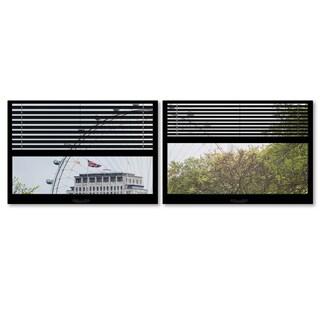 Philippe Hugonnard 'Window View The London Eye 4' 2 Panel Art Set