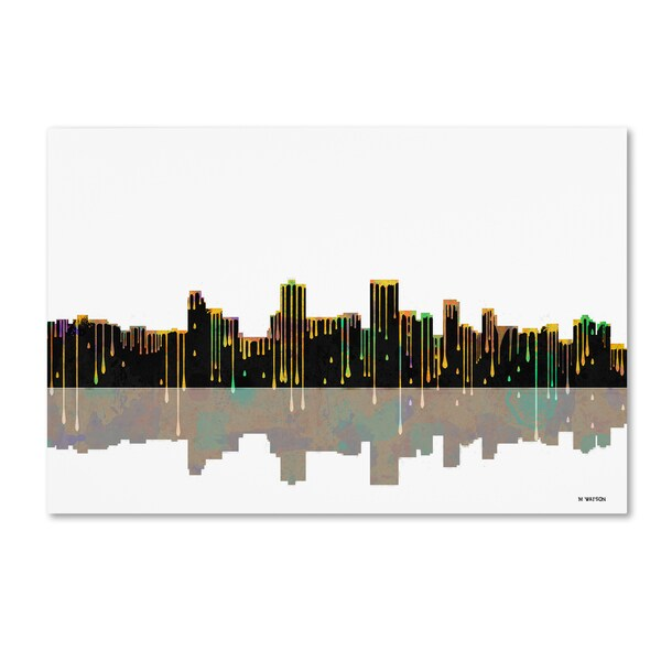Marlene Watson 'Anchorage Alaska Skyline 2' Canvas Art