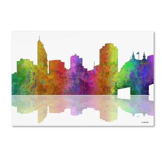 Marlene Watson 'Cincinatti Ohio Skyline' Canvas Art