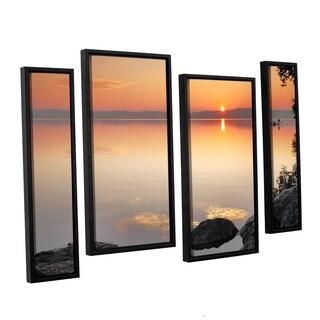 ArtWall Steve Ainsworth 'Potomac Sunrise' 4 Piece Floater Framed Canvas Staggered Set