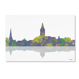 Marlene Watson 'Annapolis Maryland Skyline 2' Canvas Art