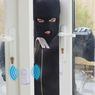 Door and Window Alarm Wireless Magnetic Anti-Theft Sensors by Stalwart (Set of 8)