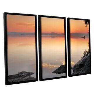 ArtWall Steve Ainsworth 'Potomac Sunrise' 3 Piece Floater Framed Canvas Set