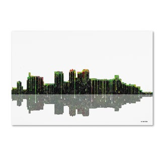 Marlene Watson 'Birmingham Alabama Skyline 2' Canvas Art