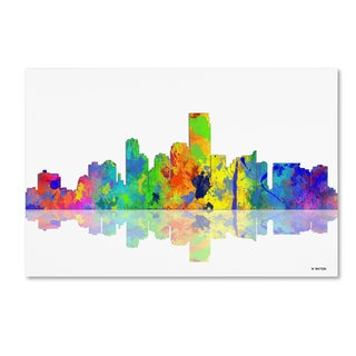 Marlene Watson 'Jersey City New Jersey Skyline' Canvas Art