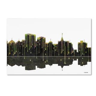 Marlene Watson 'Oakland California Skyline 2' Canvas Art