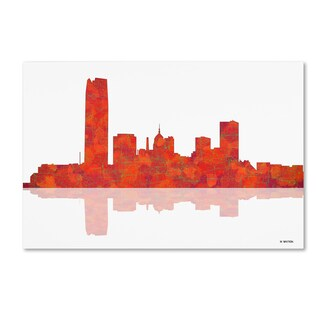 Marlene Watson 'Oklahoma City Oklahoma Skyline' Canvas Art - Multi