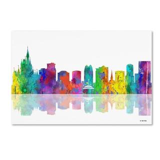 Marlene Watson 'Orlando Florida Skyline' Canvas Art