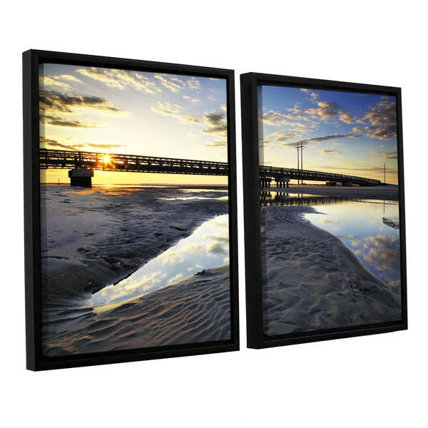 Artwall Steve Ainsworth Hatteras Pools And Bridge 2 Piece Floater Framed Canvas Set Overstock 10431674
