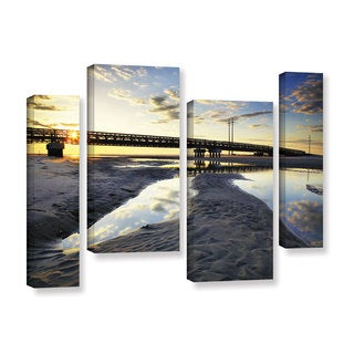 ArtWall Steve Ainsworth 'Hatteras Pools And Bridge' 4 Piece Gallery-wrapped Canvas Staggered Set