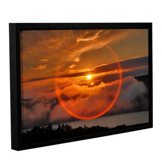 ArtWall Steve Ainsworth 'Circle Around Sun' Gallery-wrapped Floater-framed Canvas