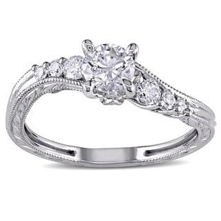 Miadora Signature Collection 14k White Gold 3/4ct TDW Diamond Engagement Ring