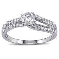 Miadora Signature Collection 14k White Gold 3/5ct TDW Diamond Engagement Ring