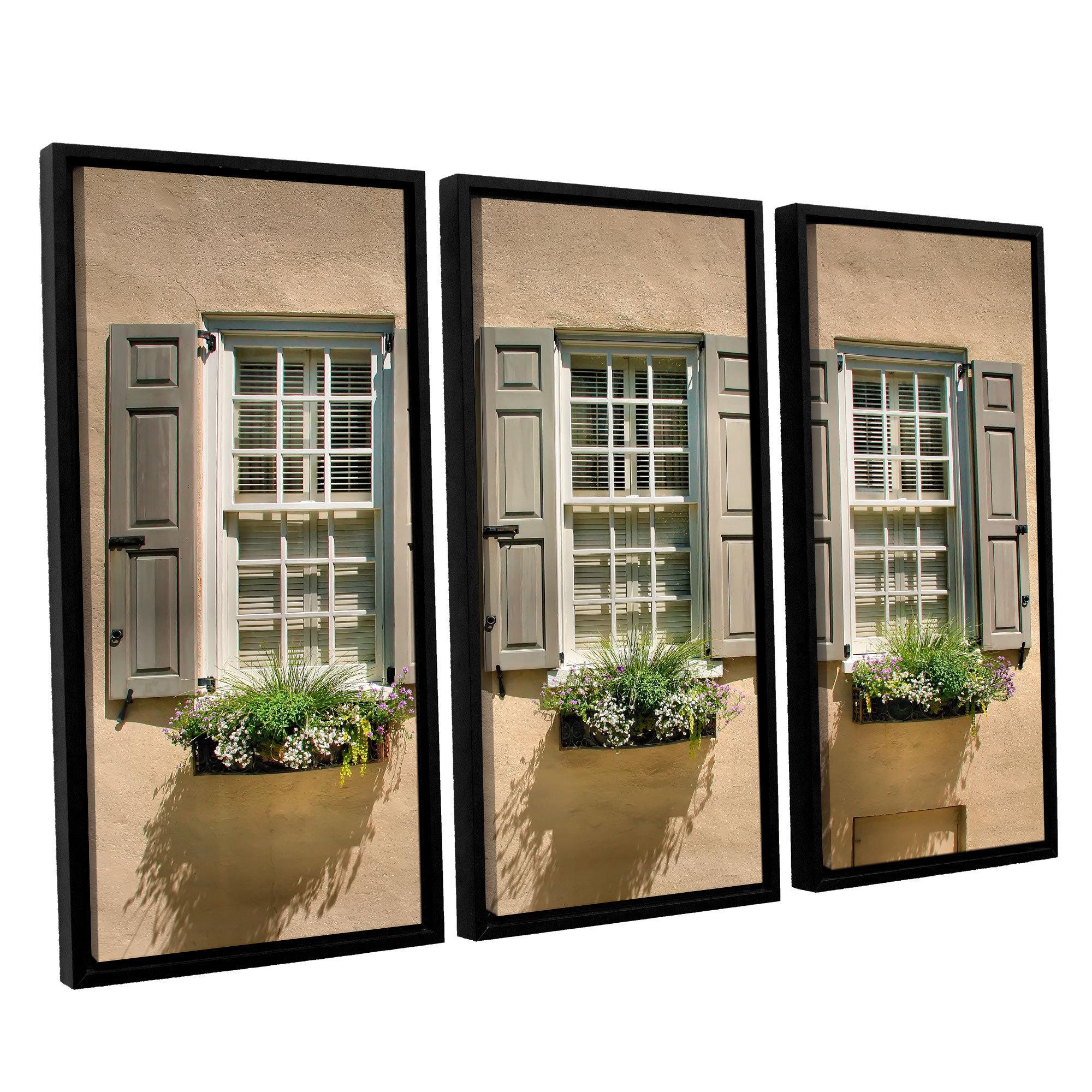 Artwall Steve Ainsworth Windows Of Old Charleston 3 Piece Floater Framed Canvas Set Multi Overstock 10431750