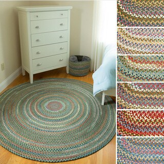 Charisma Indoor/Outdoor 4 ft Round Braided Rug by Rhody Rug - 4'