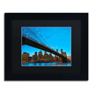 CATeyes 'Brooklyn Bridge 1' Black Matte, Black Framed Wall Art