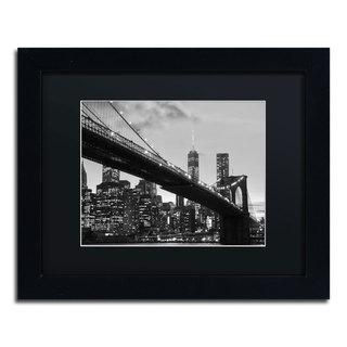 CATeyes 'Brooklyn Bridge 5' Black Matte, Black Framed Wall Art