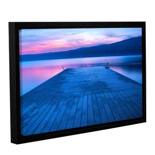 ArtWall Steve Ainsworth 'Waiting For Dawn' Gallery-wrapped Floater-framed Canvas