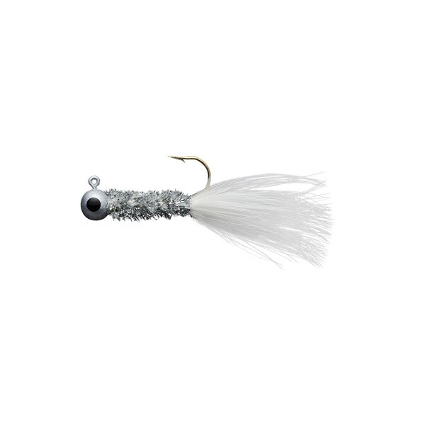 Eagle Claw Crappie Jig 0.332 oz Silver-White