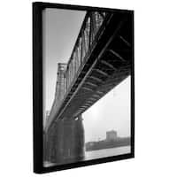 ArtWall Steve Ainsworth 'Under The Bridge' Gallery-wrapped Floater-framed Canvas - Multi