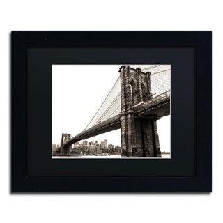 CATeyes 'Brooklyn Bridge 2' Black Matte, Black Framed Wall Art
