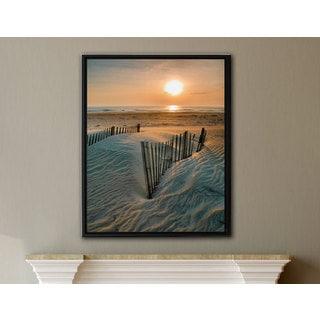 ArtWall Steve Ainsworth 'Sunrise Over Hatteras' Gallery-wrapped Floater-framed Canvas
