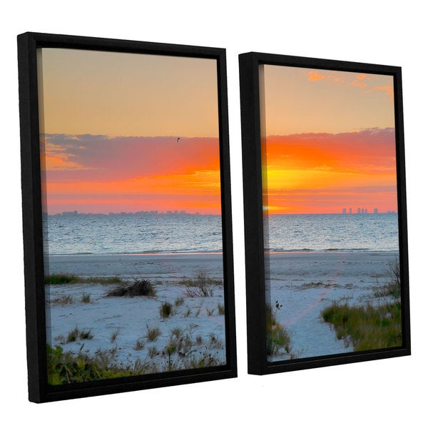 ArtWall Steve Ainsworth 'Sanibel Sunrise Iv' 2 Piece Floater Framed Canvas Set