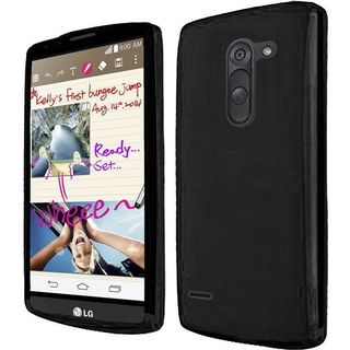 Insten TPU Rubber Candy Skin Phone Case Cover For LG G3 Stylus