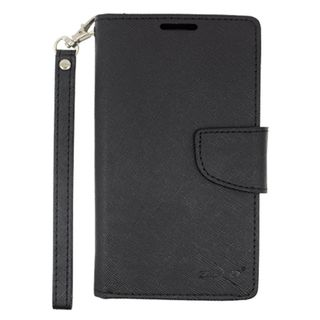 Insten Leather Fabric Phone Case Cover with Lanyard/ Stand For Alcatel One Touch Conquest