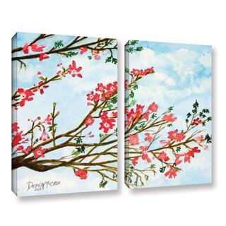 ArtWall Derek Mccrea 'Tree Flowers' 2 Piece Gallery-wrapped Canvas Set