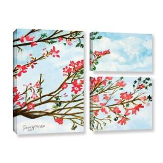 ArtWall Derek Mccrea 'Tree Flowers' 3 Piece Gallery-wrapped Canvas Flag Set