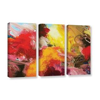 ArtWall Allan Friedlander 'Morning Burst' 3 Piece Gallery-wrapped Canvas Set