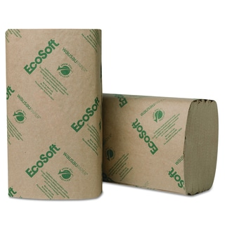 Wausau Paper EcoSoft Singlefold Natural Towels (16 Packs of 250 Towels)