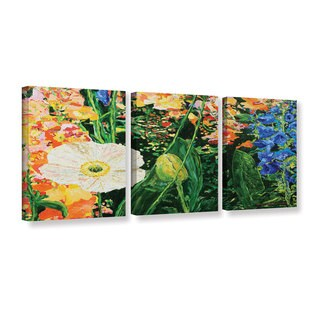 ArtWall Allan Friedlander 'Only Pick The Best' 3 Piece Gallery-wrapped Canvas Set