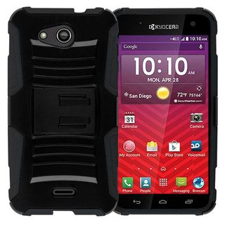 Insten Hard PC/ Silicone Dual Layer Hybrid Phone Case Cover with Holster For Kyocera Hydro Wave