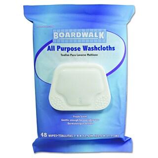 Boardwalk Premoistened Fresh Scent Personal Washcloths (Pack of 48)