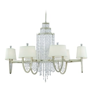 Corbett Lighting Viceroy 12-light Silver Oval Chandelier