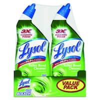 Lysol Disinfectant Toilet Bowl Cleaner with Bleach (Pack of 2)