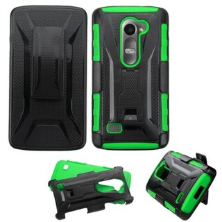 Insten Hard PC/ Silicone Dual Layer Hybrid Phone Case Cover with Holster For LG Leon/ Tribute 2